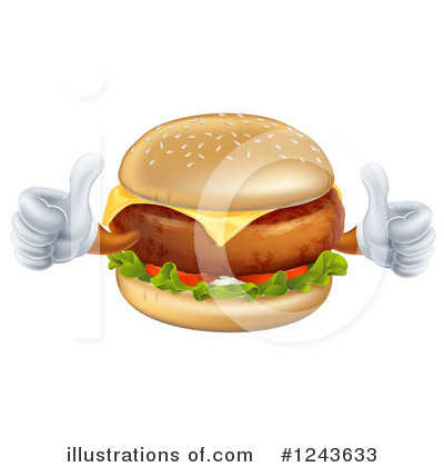 Cheeseburger Clipart #1243633 by AtStockIllustration
