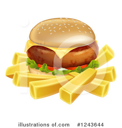Cheeseburger Clipart #1243644 by AtStockIllustration