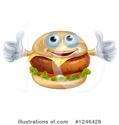 Cheeseburger Clipart #1246426 by AtStockIllustration