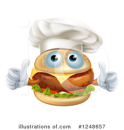 Chef Cheeseburger Clipart #1248657 by AtStockIllustration