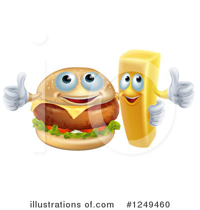 Cheeseburger Clipart #1249460 by AtStockIllustration