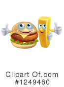 Royalty-Free (RF) Cheeseburger Clipart Illustration #1249460