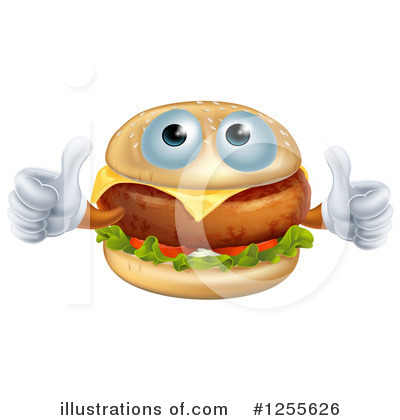 Cheeseburger Clipart #1255626 by AtStockIllustration