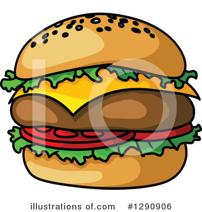 Cheeseburger Clipart #1290906 by Vector Tradition SM