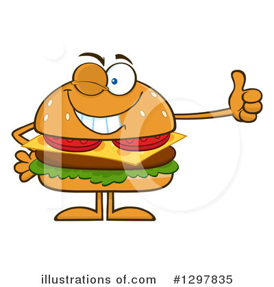 Burger Clipart #1297835 by Hit Toon