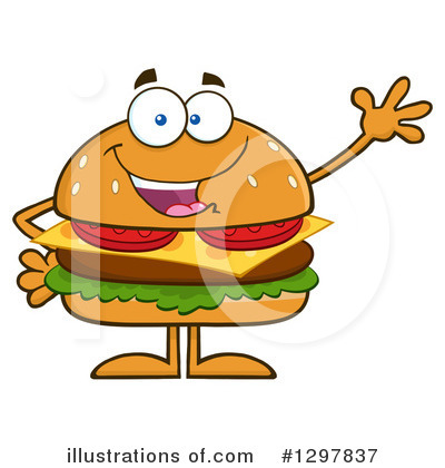 Burger Clipart #1297837 by Hit Toon