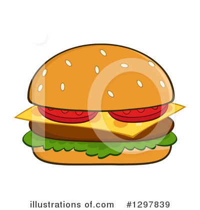 Burger Clipart #1297839 by Hit Toon