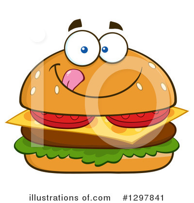 Burger Clipart #1297841 by Hit Toon