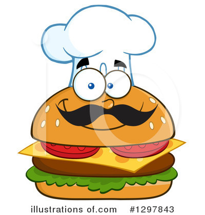 Chef Cheeseburger Clipart #1297843 by Hit Toon