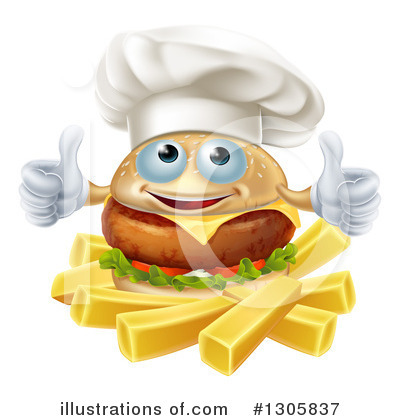 Chef Cheeseburger Clipart #1305837 by AtStockIllustration