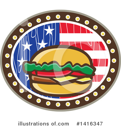 Burger Clipart #1416347 by patrimonio