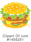 Cheeseburger Clipart #1455251 by Alex Bannykh