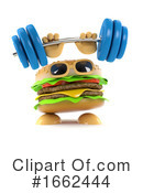 Cheeseburger Clipart #1662444 by Steve Young