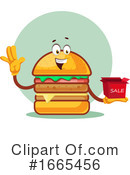 Cheeseburger Clipart #1665456 by Morphart Creations