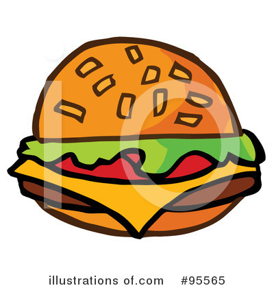 Burger Clipart #95565 by Hit Toon