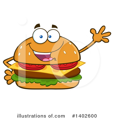 Burger Clipart #1402600 by Hit Toon