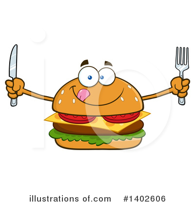 Burger Clipart #1402606 by Hit Toon