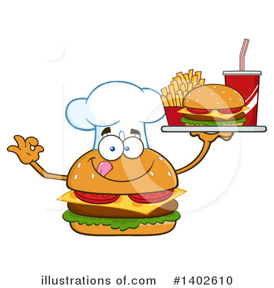Chef Cheeseburger Clipart #1402610 by Hit Toon