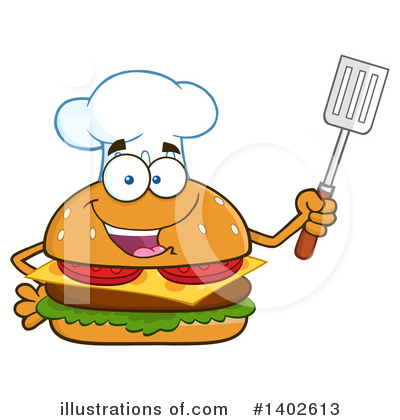 Chef Cheeseburger Clipart #1402613 by Hit Toon