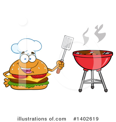 Chef Cheeseburger Clipart #1402619 by Hit Toon