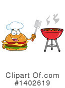 Cheeseburger Mascot Clipart #1402619 by Hit Toon