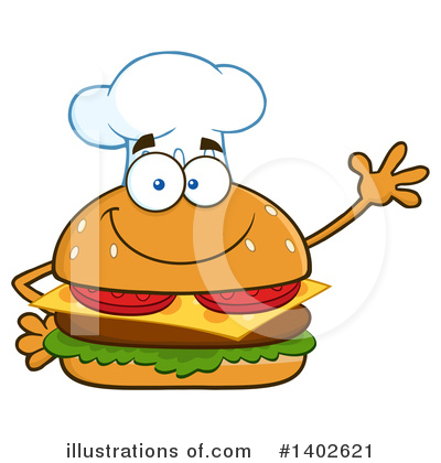 Chef Cheeseburger Clipart #1402621 by Hit Toon