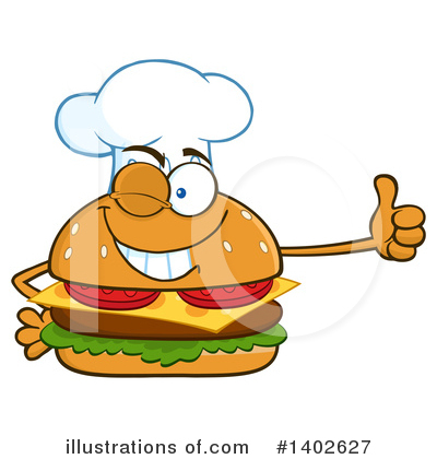 Chef Cheeseburger Clipart #1402627 by Hit Toon