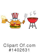 Cheeseburger Mascot Clipart #1402631 by Hit Toon