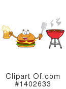 Cheeseburger Mascot Clipart #1402633 by Hit Toon