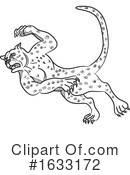 Cheetah Clipart #1633172 by patrimonio