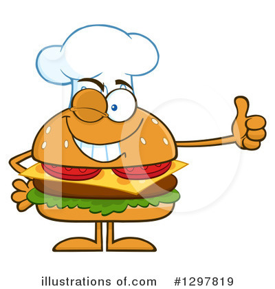 Burger Clipart #1297819 by Hit Toon