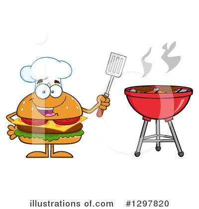 Chef Cheeseburger Clipart #1297820 by Hit Toon