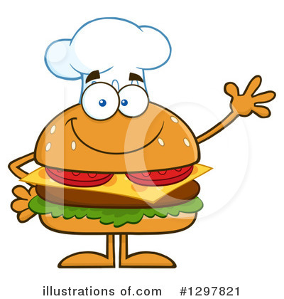 Chef Cheeseburger Clipart #1297821 by Hit Toon