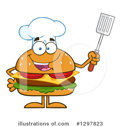 Chef Cheeseburger Clipart #1297823 by Hit Toon