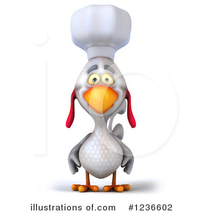 Royalty-Free (RF) Chef Chicken Clipart Illustration by Julos - Stock Sample #1236602