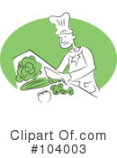 Royalty-Free (RF) Chef Clipart Illustration #104003