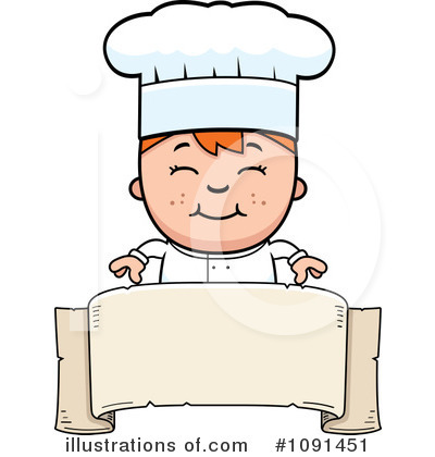 Chef Clipart #1091451 - Illustration by Cory Thoman