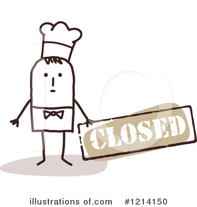 Royalty-Free (RF) Chef Clipart Illustration by NL shop - Stock Sample #1214150