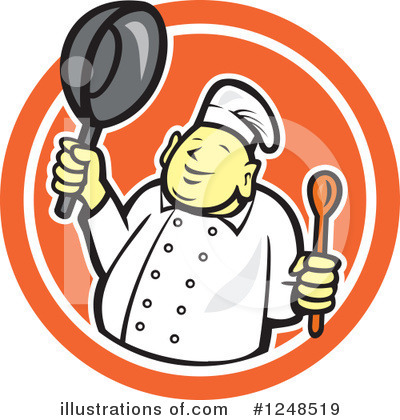 Royalty-Free (RF) Chef Clipart Illustration by patrimonio - Stock Sample #1248519