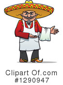 Royalty-Free (RF) Chef Clipart Illustration #1290947