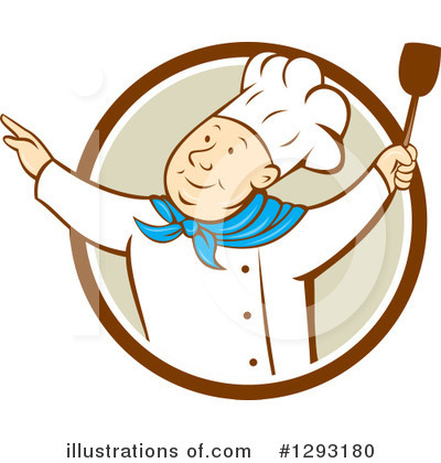 Royalty-Free (RF) Chef Clipart Illustration by patrimonio - Stock Sample #1293180