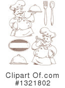 Royalty-Free (RF) Chef Clipart Illustration #1321802