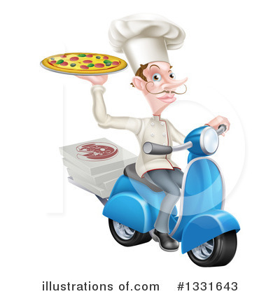 Pizza Delivery Clipart #1331643 by AtStockIllustration