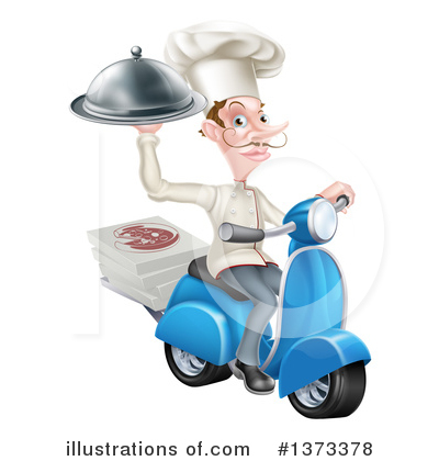 Food Delivery Clipart #1373378 by AtStockIllustration