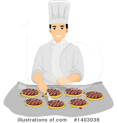 Royalty-Free (RF) Chef Clipart Illustration by BNP Design Studio - Stock Sample #1403038