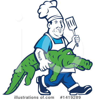 Alligator Clipart #1419289 by patrimonio