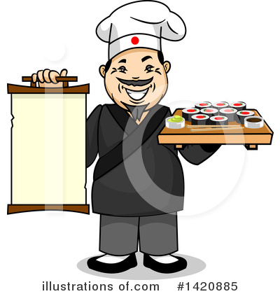 Sushi Clipart #1420885 by Vector Tradition SM