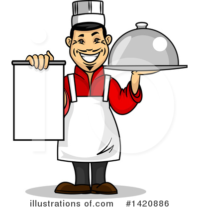 Royalty-Free (RF) Chef Clipart Illustration by Vector Tradition SM - Stock Sample #1420886