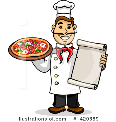Pizza Clipart #1420889 by Vector Tradition SM