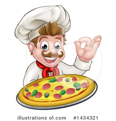 Pizza Clipart #1434321 by AtStockIllustration